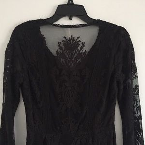 Free People Dresses - Free People Reign Over Me Lace Dress Black NEW!
